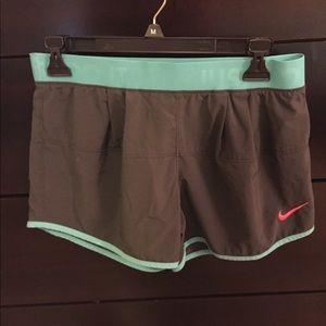 Gray/Aqua/Orange Nike Shorts